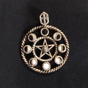 Jewelry - Pentacle pentagram Pendant 9.25 sterling silver